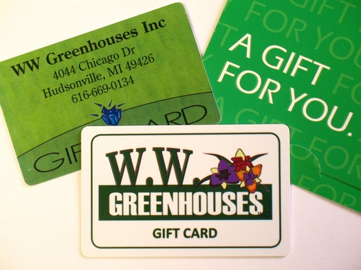 Gift Card Fund Raiser from W.W. Greenhouses
