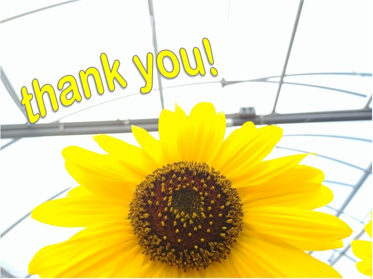W.W. Greenhouses thanks YOU!